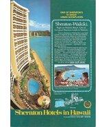 1978 Sheraton Hotels Hawaii Waikiki Beach print ad - $10.00