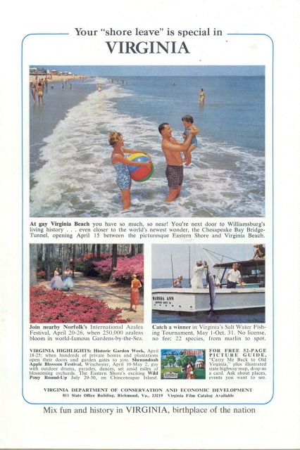 1971 Virginia vacation gay Virginia Beach happy family print