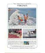 1971 Virginia vacation gay Virginia Beach happy family print - $10.00