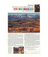 1963 Colorado Travel Fall Autumn Scene photo print ad - $10.00
