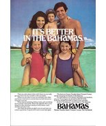 1977 Bahamas Vacation Holidays happy family print ad - $10.00
