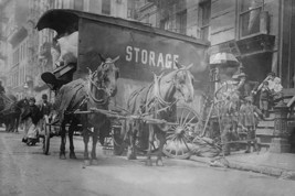 Horse Drawn Wagon with sign saying STORAGE unload the home content of a family b - $19.99+