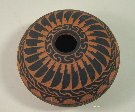 Navajo Carved Pot Ferguson Whitegoat