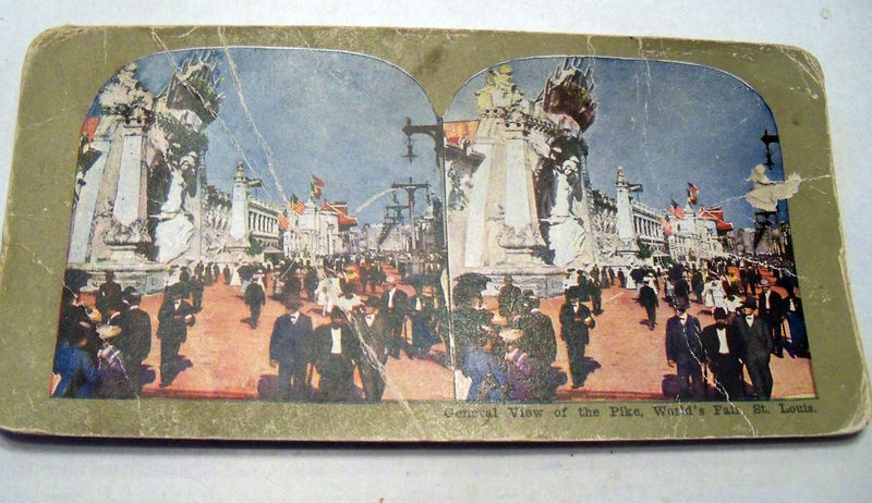 Stero card View of the Pike St Louis Word Fair 1904