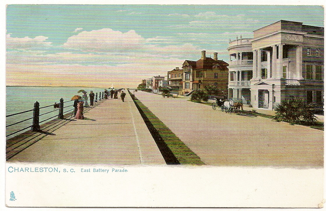 Antique, Tuck Undivided Postcard, East Battery Parade, Charl
