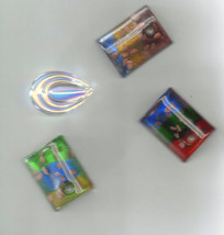 lot of 4 glass murano pendants, jewelry parts, colorful  - $2.99