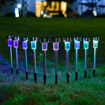 12pk Solar Light Pathway Outdoor Garden Stake Walkway LED Lighting Multi... - $32.00
