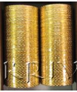 KKLL10F04 12 Dozen Golden Metallic Bangle Choori - $48.24