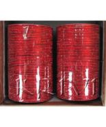 KKLL10C03 8 Dozen Red Metal Bangles Choori with Glitter Handiwork - $25.74