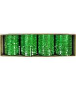 KKLL10A02 12 Dozen Green Metallic Bangles Choori with Glitter Handiwork - $60.27