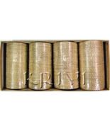 KKLL10A01 16 Dozen Gold Metallic Bangles Choori with Shimmer Handiwork - $81.45