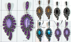 KWLL09074 Wholesale lot of 10 pair Designer Hanging Earring