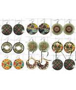KWLL09069 Wholesale lot of 25 pair Disc Earrings - $203.13