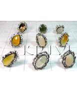 KWLL09051 Wholesale lot of 25 pc Onyx Gemstone Rings - $190.83