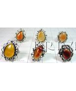 KWLL09049 Wholesale lot of 25 pc Cornelian Gemstone Rings - $190.83
