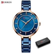 CURREN Ladies Watches Fashion Elegant Watch Women Dress Wristwatch with Rhinesto - $57.79