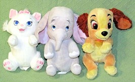 "DISNEY BABIES LOT PLUSH Lady & The Tramp Dumbo Marie Aristocats 11"" Stuf... - $23.38"