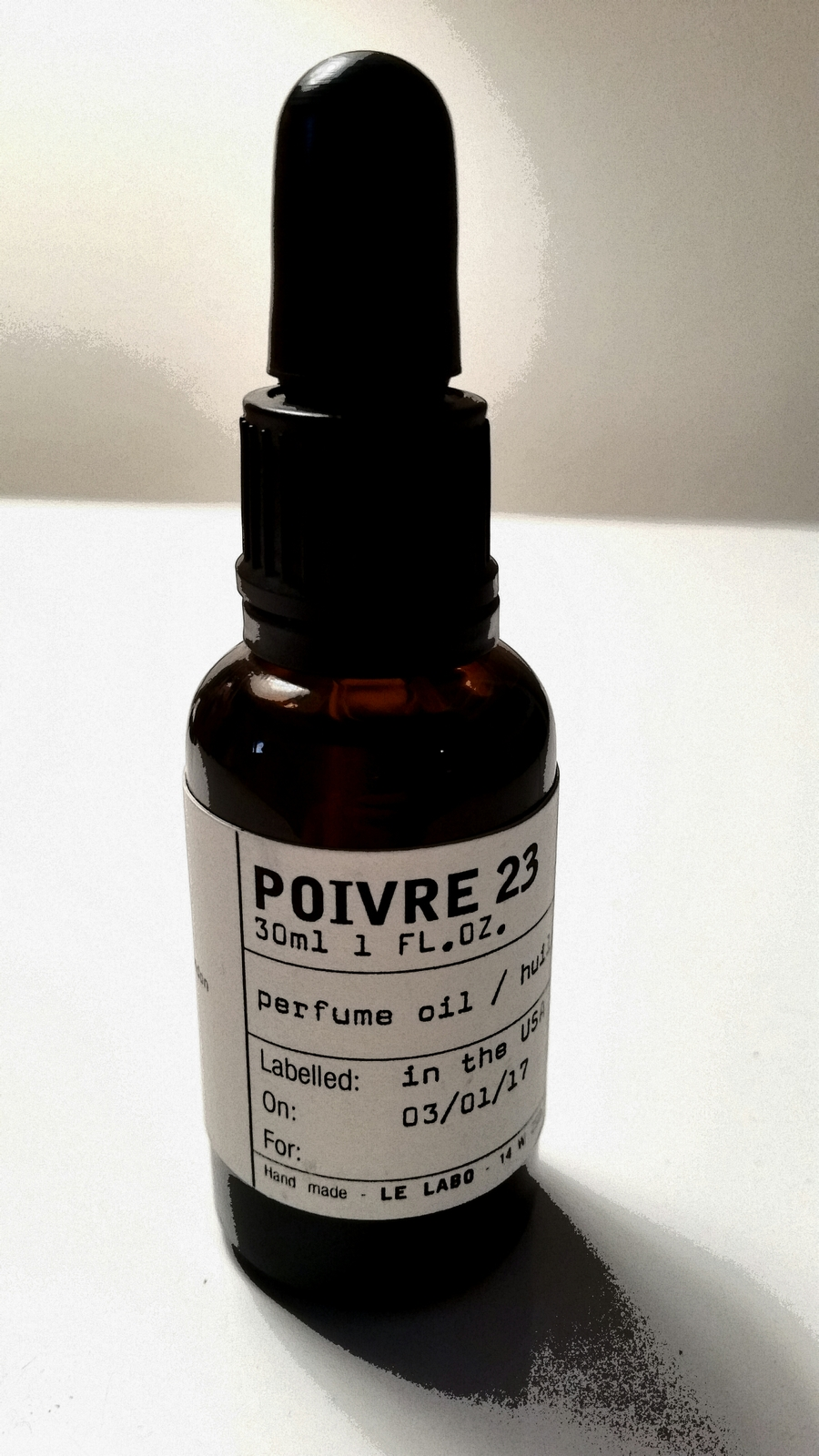 POIVRE 23 by LE LABO 5ml Travel Roll On STYRAX VANILLA PEPPER Perfume Oil London