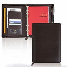 Synthetic Leather System Diary Zipper Handmade Organizer Planner with Da... - $50.67