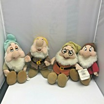 Lot of 4 Snow White and the Seven Dwarfs Sleepy, Sneezy, Doc, Grumpy Plu... - $99.99