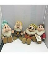 Lot of 4 Snow White and the Seven Dwarfs Sleepy, Sneezy, Doc, Grumpy Plu... - $99.99
