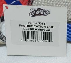 FabriCreations 2355 God Bless America Red White Blue Star Round Fabric Decor image 6