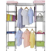 Expandable Closet Room Organizer Garment Rack Durable Sturdy Steel Frame... - $2.574,97 MXN
