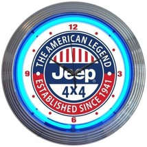 "Jeep The American Legend Neon Clock 15""x15"" - $69.00"