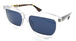 Christian Dior Sunglasses Dior Mania 2 T6VKU 57-16-150 Clear - Havana / Blue - $131.32