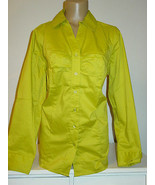 Lane Bryant Green Blouse Top Button Front Gathers Long Sleeve-14-NWT-$46.95 - $12.70