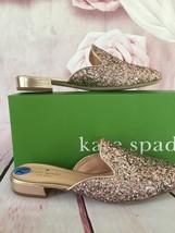 KATE SPADE NIB ANDRA MULES SLIP ON SHOES ROSE GOLD GLITTER FLATS SPARKLE... - $90.00