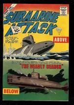 Submarine Attack #28 1961-CHARLTON War COMIC-PARACHUTE FN- - $37.83