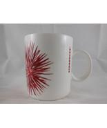 Starbucks  Coffee Mug  Christmas Abstract Flowers Starburst Red 12 oz  2014 - $8.31
