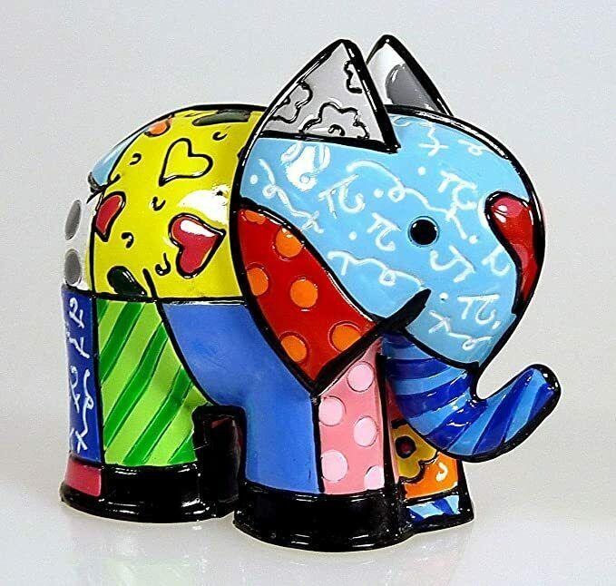 Romero Britto Mini India Elephant Figurine #331843 Collectible Gift