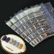 1440pcs 3D Nail Art Glitter Diamond Gems Tips Crystal Rhinestones DIY De... - $6.50