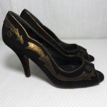 London Peep Heels Toe 5 Accent Guinness Bronze Pumps 8 Lulu Suede Black wtqaSfnxY
