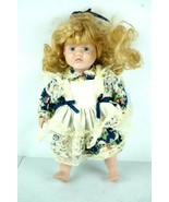 Vintage Crying Angry Baby Porcelain Doll Creepy  - $18.67