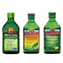 3 Pack Moller's Fish Oil Norwegian Dietary Supplement | Lemon | Apple |... - $79.99