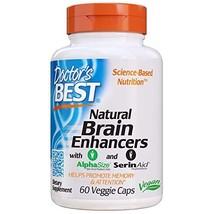 Doctor's Best Natural Brain Enhancers, Non-GMO, Vegan, Gluten Free, 60 Veggie Ca image 1