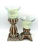 Southern Living at Home Historic Bell Jar Candle Holders Small & Large - $39.60