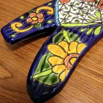 COLORFUL PAINTED TALAVERA MEXICAN POTTER DRAGONFLY CERAMIC POTTERY  Made In Mexi image 7
