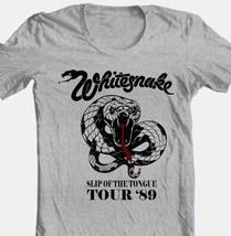 WhitesnakeTour T-shirt 80's heavy metal classic rock grey cotton retro style tee image 1