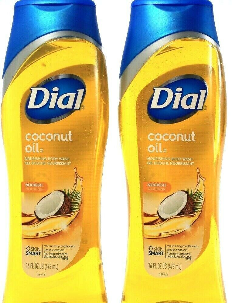 Primary image for 2 Ct Dial Coconut Nourishing Skin Smart Moisturizing Conditioner Body Wash 16Fl