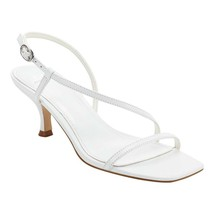 Marc Fisher Women's Gove Strappy Heeled Sandals, White Leather, 7 - $54.44