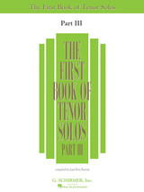 First Book of Tenor Solos - Part III - $14.99