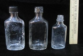 Medicine Bottles Duraglas RX Clear Glass Embossed Measurements Vintage 3... - $8.90