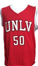 Greg Anthony #50 College Basketball Jersey Sewn Red Any Size image 1