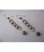 Chunky Function Chain Cathedral Earrings Handmade by Chula - $22.00