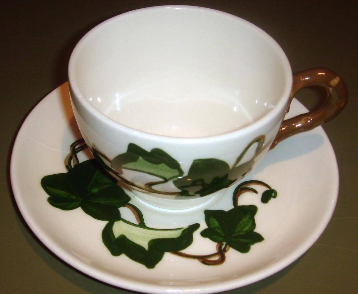 Vintage Cup & Saucer Poppytrail Metlox CALIFORNIA IVY