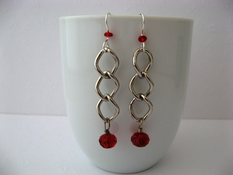 Mod chunky ear red 21414 a